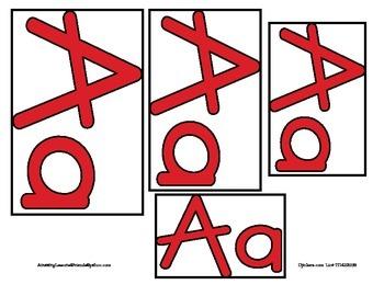 Alphabet Big to Small Cards