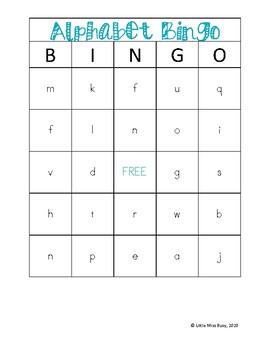 Alphabet Bingo! A to Z! 6 Playing cards!