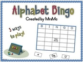 Alphabet Bingo-Alphabet Practice Bingo Game