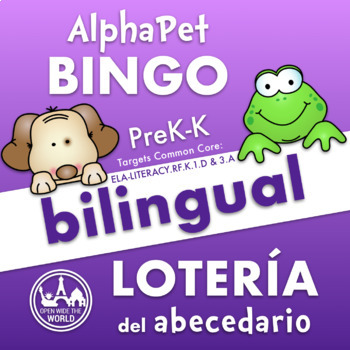 Alphabet Bingo - Bilingual in English & Spanish