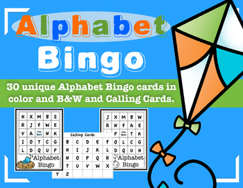 Alphabet Bingo Card Set