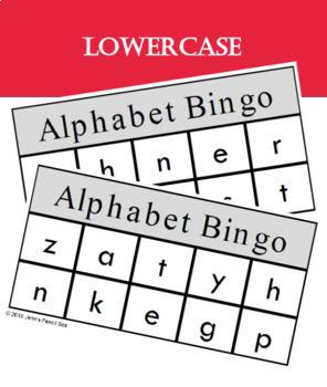 Alphabet Bingo Cards {60 DIFFERENT CARDS}