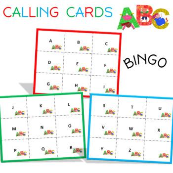 Alphabet Bingo Cards (uppercase letters)