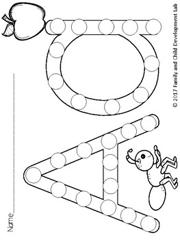 Alphabet Bingo Dotters (ABC identification activity)