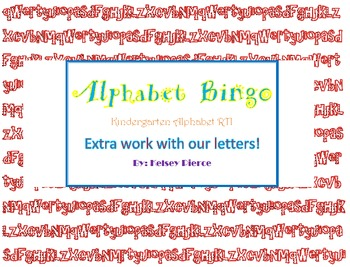 Alphabet Bingo Game and Lesson