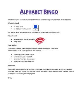 Alphabet Bingo - Game set