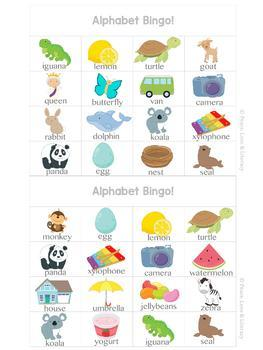 Alphabet Bingo Games Differentiated