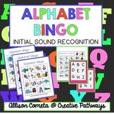 Alphabet Bingo, Initial Sound Bingo, Letter Bingo, Sound Recognition