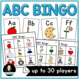 Alphabet Bingo Game for letter names and beginning sounds
