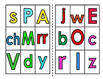 Alphabet Bingo (Spanish) colored