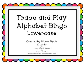 Alphabet Bingo Trace and Play - Lowercase