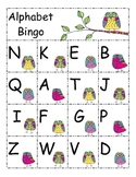 Alphabet Bingo - Upper and Lowercase  OWL THEME