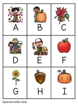 Fall Alphabet Bingo