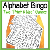 Alphabet Bingo Uppercase and Lowercase Letters