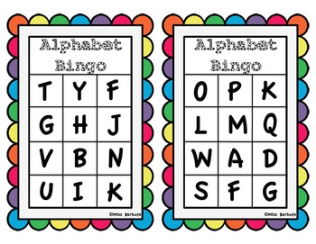 Alphabet Bingo - Uppercase and Lowercase Playing Cards