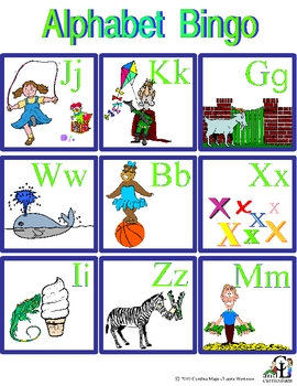 Alphabet Bingo and More