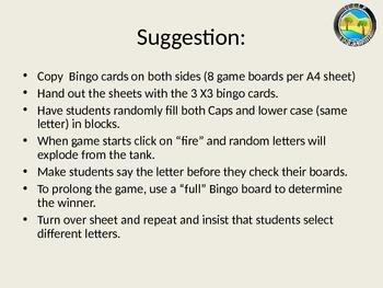 Alphabet Bingo - lower case