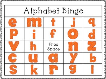 Alphabet Bingo (lowercase)