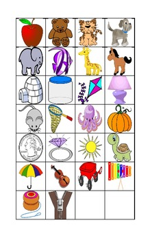 Alphabet Bingo - with Picture Cards