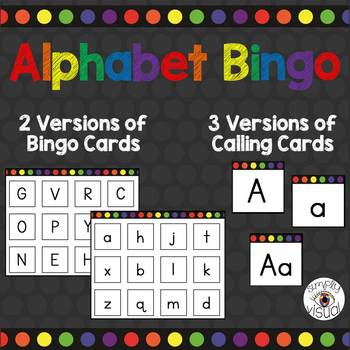 Alphabet Bingo with Uppercase and Lowercase Letters