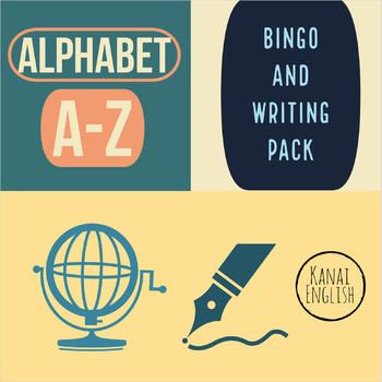 Alphabet Bingo, writing and card game pack.