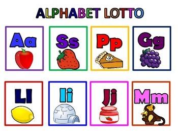 Alphabet Bingo/Lotto