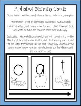 First Sound/Alphabet Blending Cards!