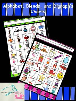 Alphabet, Blends, and Digraph Charts
