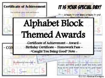 Alphabet Block Awards Set