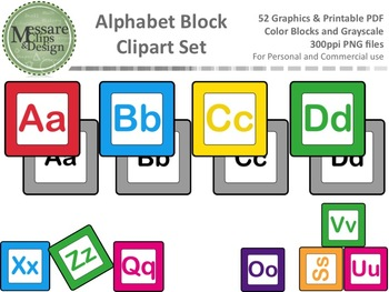 A Freebie Alphabet Block Clip Art Set {Messare Clips and Design}