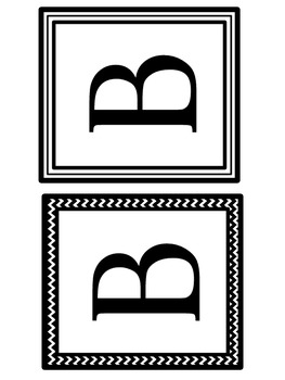 Alphabet Block Letters (Black and White)