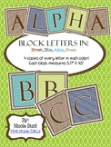 Alphabet Block Letters (Brown, Blue, Aqua, Green)