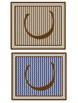 Alphabet Block Letters (Brown, Blue, Aqua, Green)