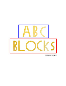 Alphabet Blocks Book (1/2 sheet pages)