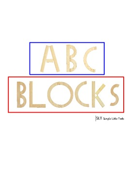 Alphabet Blocks Book- (full-page) with beginning sound pictures
