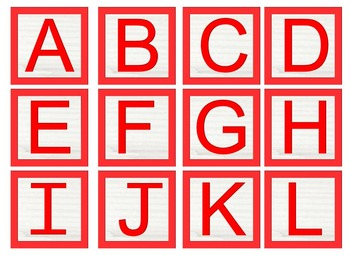 Alphabet Blocks Capital and Lower Case letters primary colors JPG files