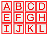 Alphabet Blocks Capital and Lower Case letters primary col
