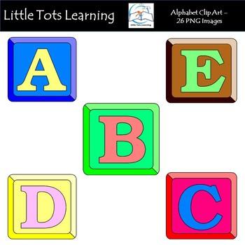 Alphabet Blocks Clip Art - Commercial Use