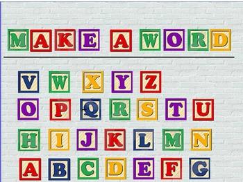 Alphabet Blocks- Make A Word Promethean Flipchart