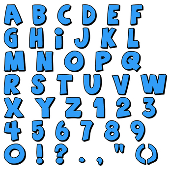 Alphabet Blue Set