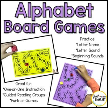 Alphabet Board Games (Letter & Sound Recognition)