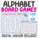 Alphabet Board Games   Printable and Digital Versions   Alphabet Review
