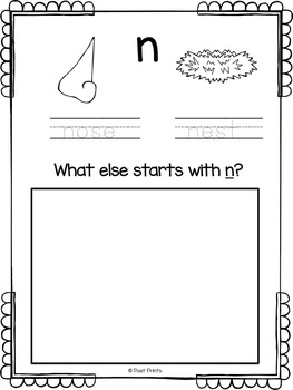 Alphabet Book, Kindergarten Printing
