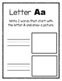 Alphabet Book Activities (Kindergarten)