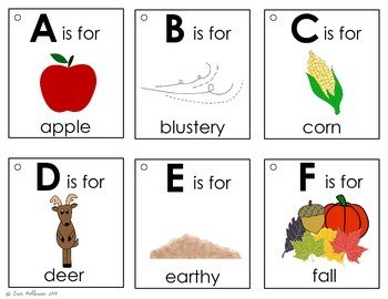 Alphabet Book - Autumn
