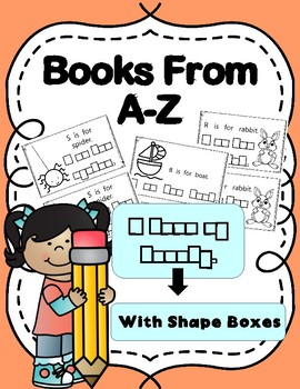 Alphabet Book Bundle from A-Z (with shape boxed writing)