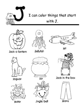 Alphabet Book Color Pages