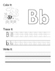 Alphabet Book: Color it, trace it, write it