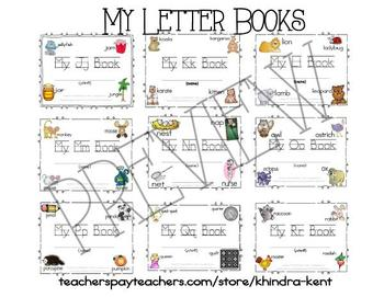 Alphabet Letter Books Emergent Readers {Full Bundled Set}