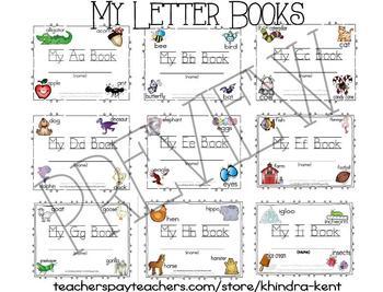 Alphabet Letter Books Emergent Readers {Full Bundled Set}